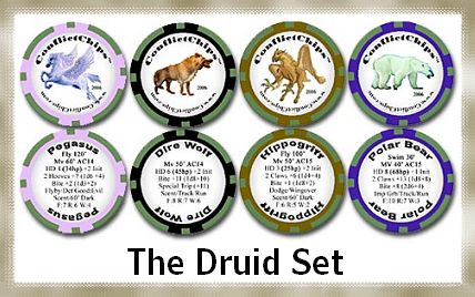 Animal markers suitable for druids' companions or barbarians' lunch.