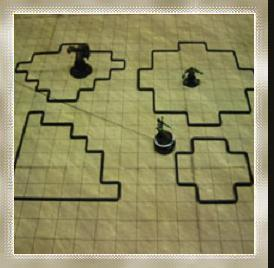 Either the map needs blinging up, or else the characters are adventuring in a trackless desert.